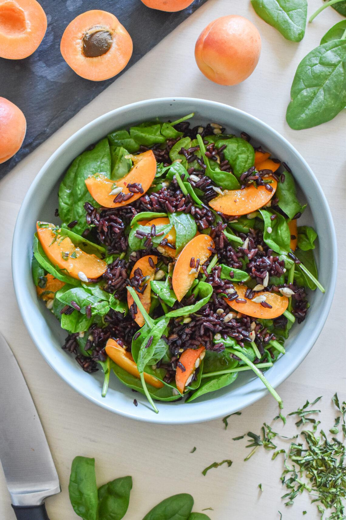 sałatka z czarnym ryżem
